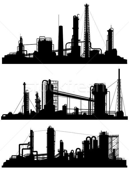 Silhouettes of units for industrial zone. Stock photo © Vertyr
