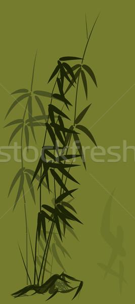 竹 アジア スタイル 緑 デザイン 背景 ストックフォト © Vertyr