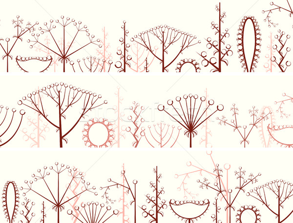 Horizontal banner of different types of inflorescence. Stock photo © Vertyr