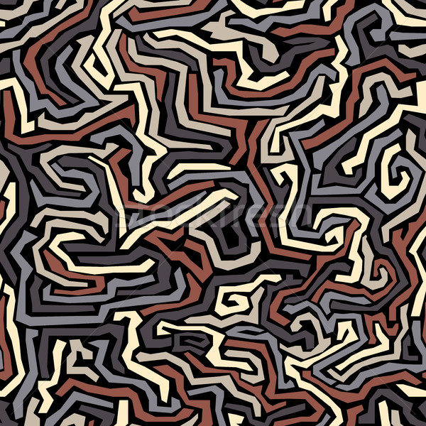 Seamless pattern of multicolored curves strips. Stock photo © Vertyr