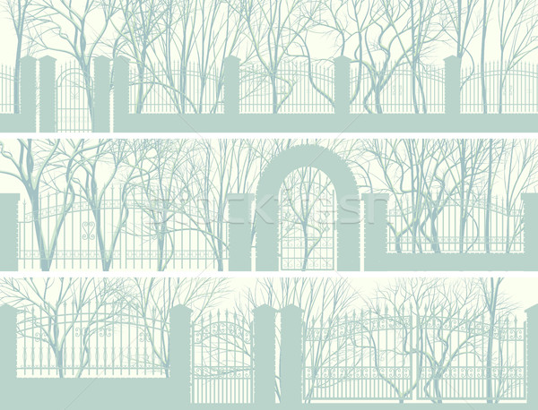 Horizontal banners parque cerca invierno árbol Foto stock © Vertyr