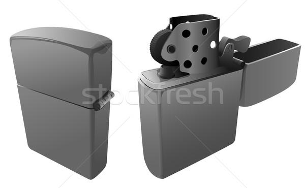 Benzine lichter Open gesloten brand grijs Stockfoto © Vertyr