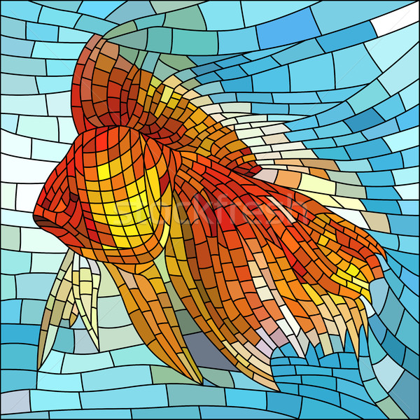 Vector illustration of gold fish. Stock photo © Vertyr