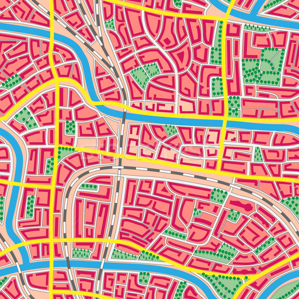 Seamless map unknown city. Stock photo © Vertyr