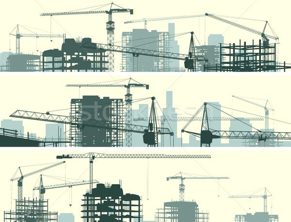 水平な バナー 建設現場 建物 ベクトル 超高層ビル ストックフォト © Vertyr