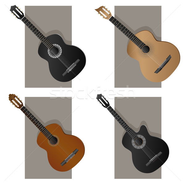 Vector illustration of some types guitar. Stock photo © Vertyr