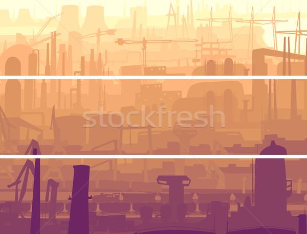 抽象的な 水平な バナー 産業 市 ベクトル ストックフォト © Vertyr