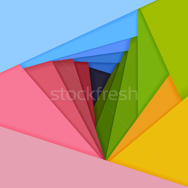 Stockfoto: Vector · gekleurd · papier · liggen · ander · abstract