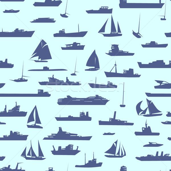 Sin costura resumen Cartoon muchos buques vector Foto stock © Vertyr