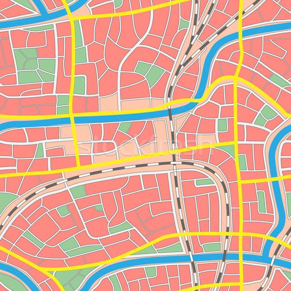 Sem costura mapa desconhecido cidade ruas Foto stock © Vertyr