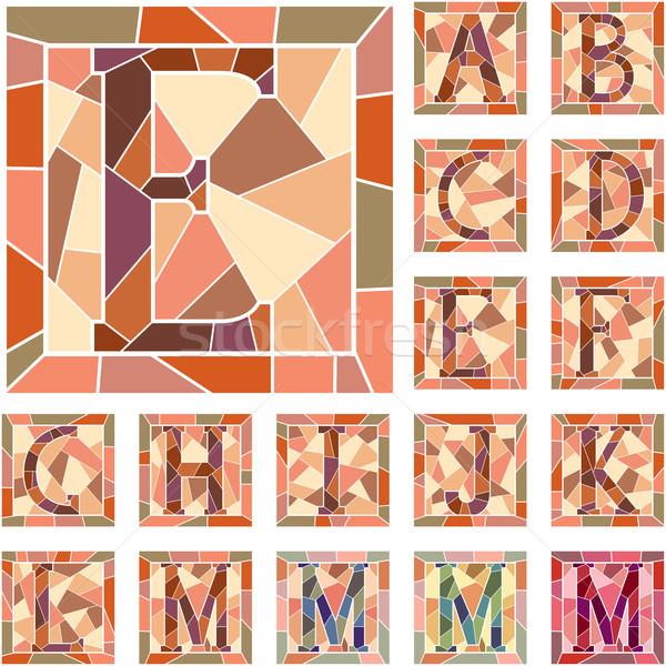Mosaic capital letters alphabet. Stock photo © Vertyr