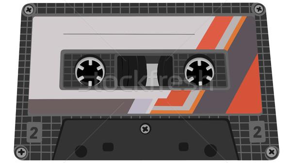 Vector illustration of tape cassette. Stock photo © Vertyr
