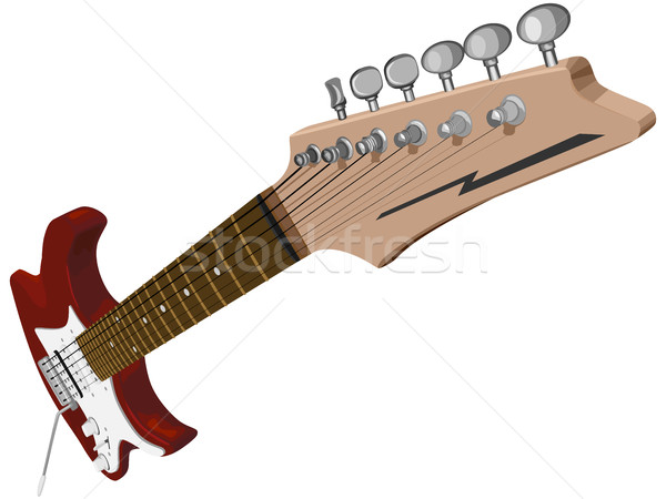 Horizontal illustration with red electric guitar. Stock photo © Vertyr