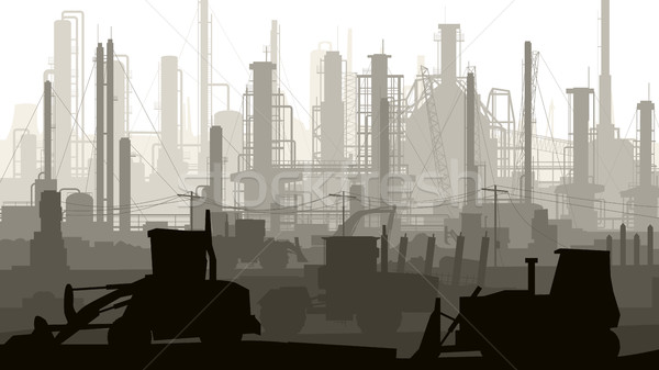 Horizontal ilustração industrial cidade fábricas poder Foto stock © Vertyr