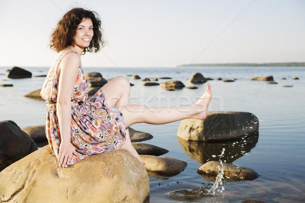 裸足 女性 水滴 幸せ モデル 夏 ストックフォト © vetdoctor