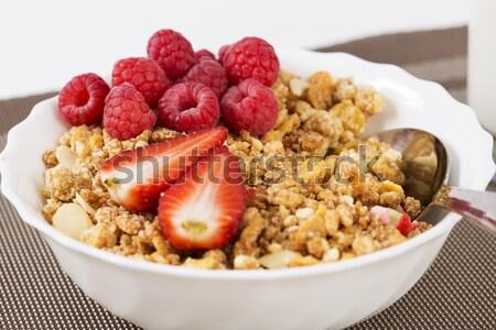 Cereal tigela dourado cereais laranja Foto stock © vetdoctor