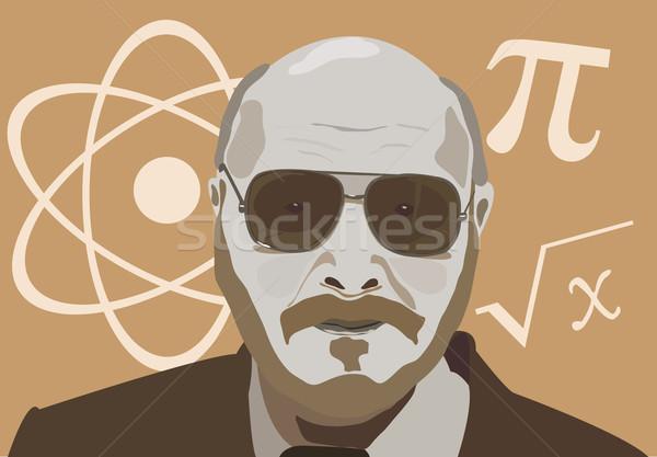 Fysica leraar man haren schilderij onderwijs Stockfoto © vetdoctor