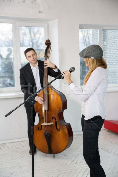 Musicians look at each other Stock photo © vetdoctor