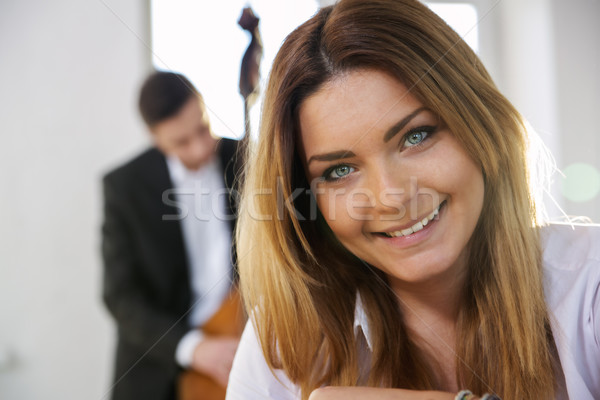 Face of young woman smile on camera Stock photo © vetdoctor