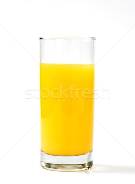 Vidro suco de laranja tabela branco fruto beber Foto stock © vetdoctor