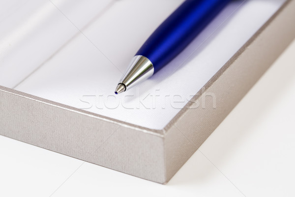 Pen with body on block of papers Stock photo © vetdoctor