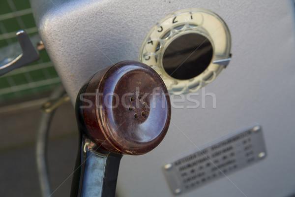 Główny starych telefon metal ceny pracy Zdjęcia stock © vetdoctor