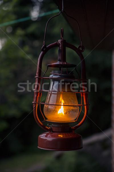 Vecchio stile brucia fiamma grazie luce strada Foto d'archivio © vetdoctor