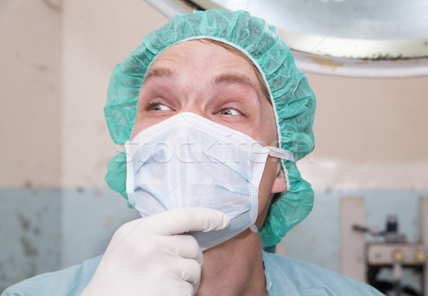 Surgeon is laughting about some joke Stock photo © vetdoctor