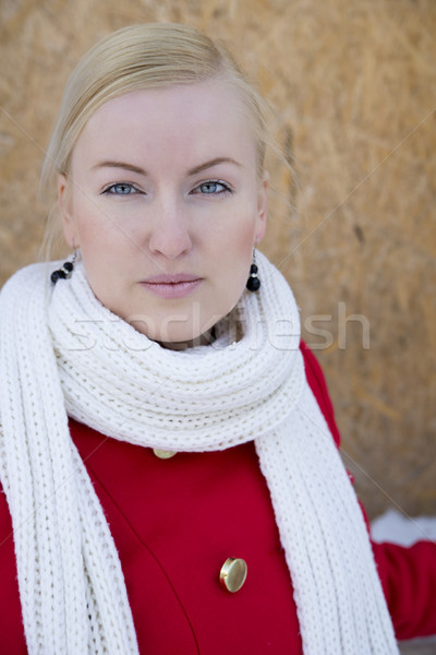 Zoomed young woman face watch focused Stock photo © vetdoctor