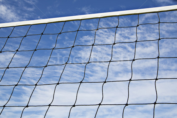 Volleyball net is strained tightly for game Stock photo © vetdoctor