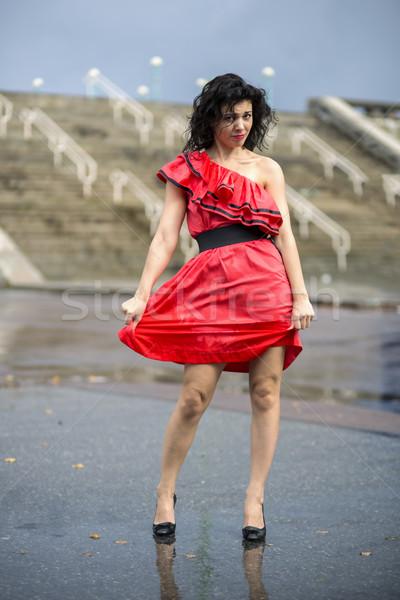 Nő szép nedves ruha tér modell Stock fotó © vetdoctor
