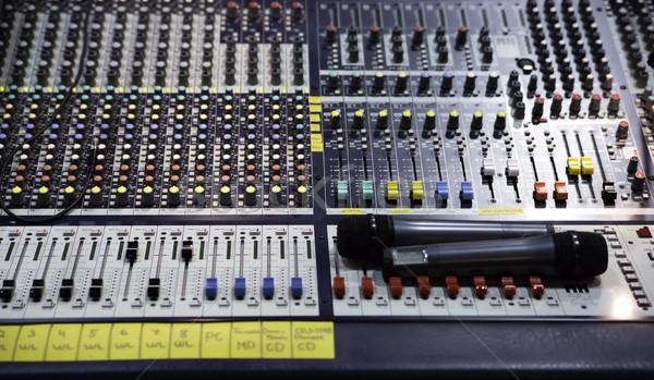 Görmek ses mikser düzenleme düğmeler müzik Stok fotoğraf © vetdoctor