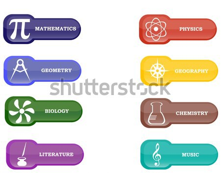 Collection of brightly colored school elements Stock photo © vetdoctor