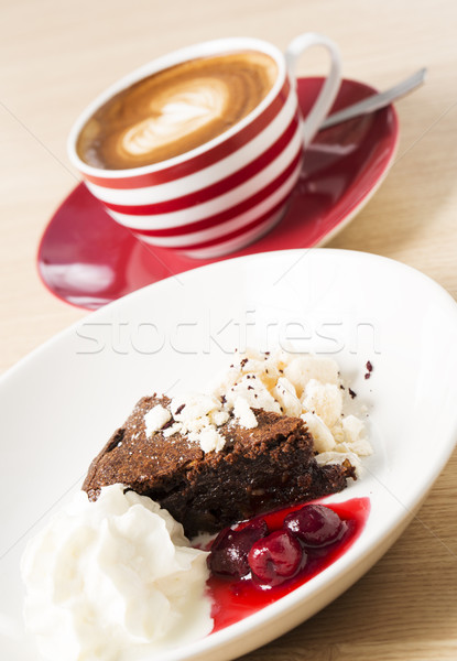 Cup of cappuccino with half eaten Stock photo © vetdoctor
