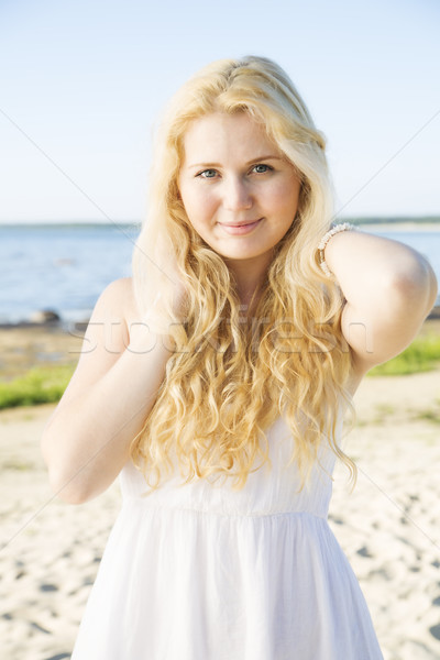 Portrait of woman in dress with hairs Stock photo © vetdoctor
