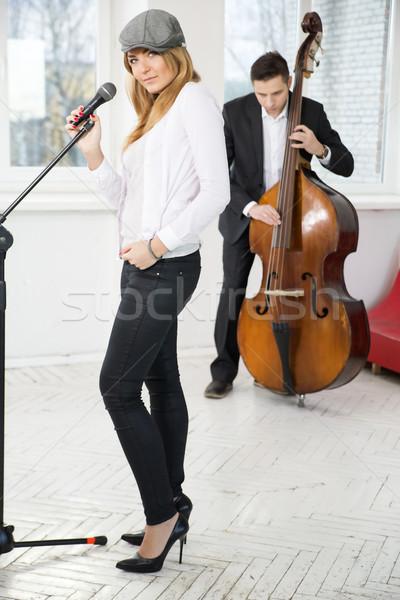 Par músicos apresentar estúdio novo música Foto stock © vetdoctor