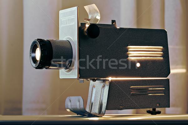 Dolgozik projektor asztal felső hő fém Stock fotó © vetdoctor