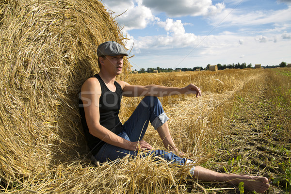 Man seating near rye ball and rest Stock photo © vetdoctor