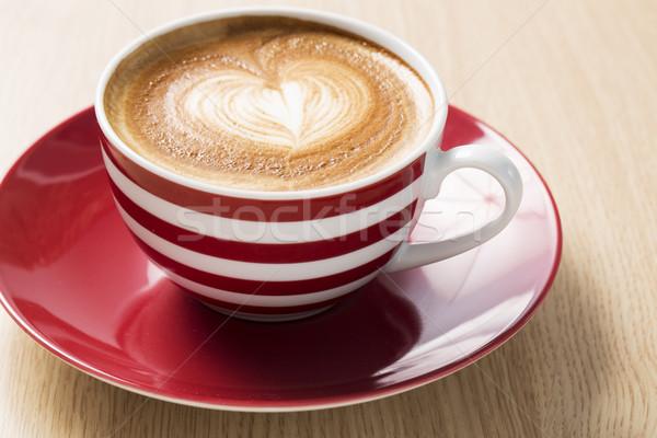 Tasse Kaffee Boom Schaum Illustration Hintergrund Stock foto © vetdoctor