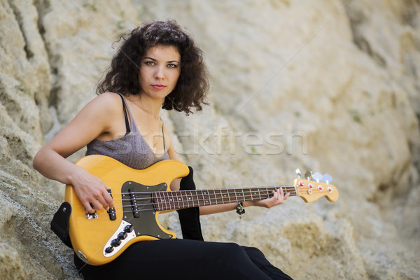 Nice looking young woman sitting Stock photo © vetdoctor