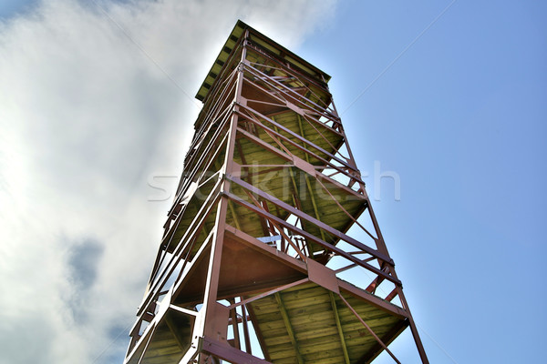 Rusty tower rising over ground under sky Stock photo © vetdoctor