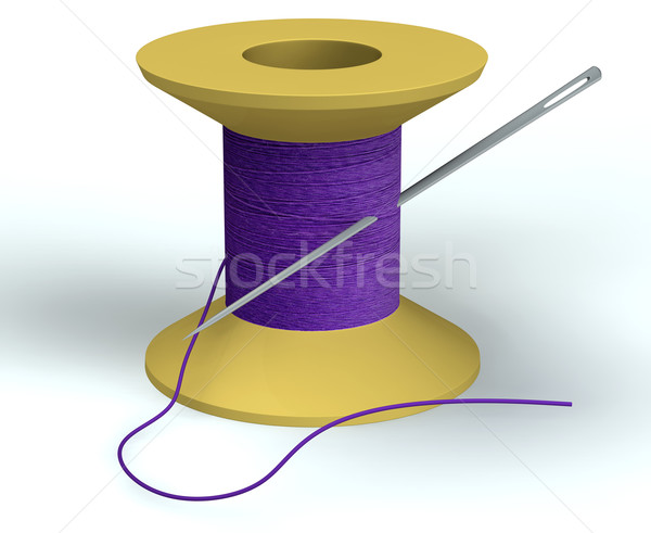 purple bobbin with needle Stock photo © vetdoctor