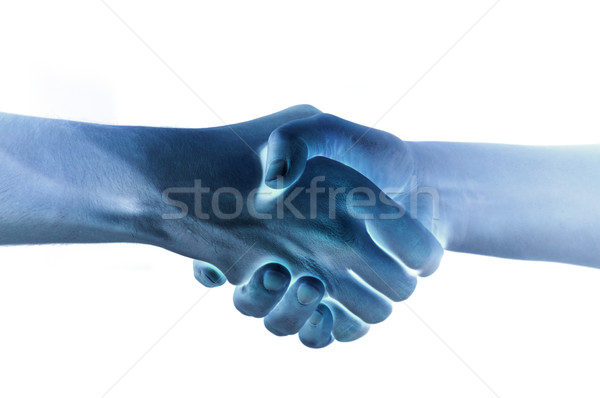 Two hands unite with eachother as agreement Stock photo © vetdoctor