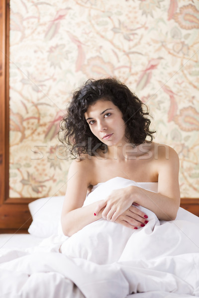 Mulher bonita atravessar brasão modelo verão retrato Foto stock © vetdoctor