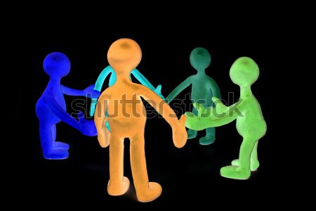 Shaded plasticine puppets standing opposite each other Stock photo © vetdoctor