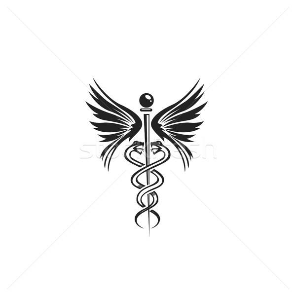 minimal logo of doctors symbol vector illustration. Stock photo © Vicasso