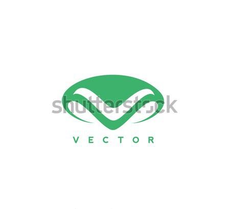 Сток-фото: минимальный · логотип · зеленый · человека · носа · белый