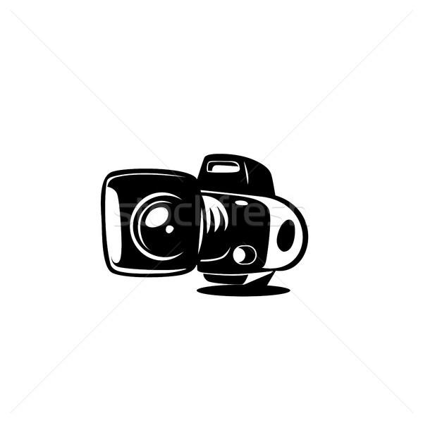 минимальный логотип камеры вектора белый дизайна Сток-фото © Vicasso