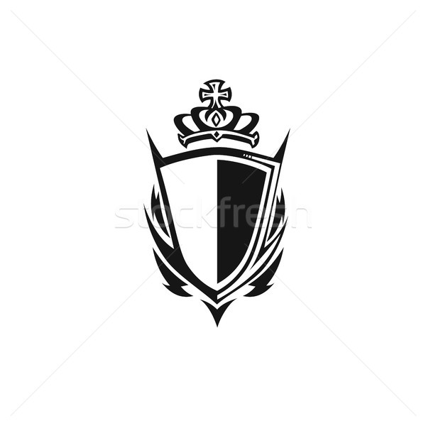 shield with crown vector illustration Stock photo © Vicasso