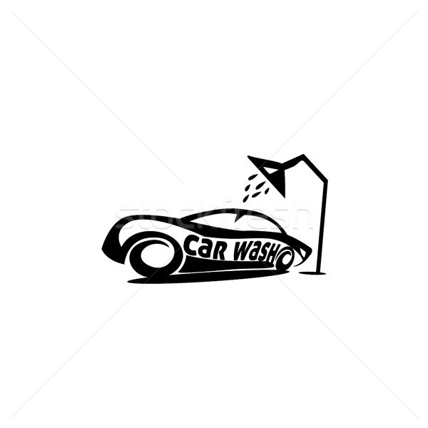 Спортивный автомобиль душу минимальный логотип белый типографики Сток-фото © Vicasso